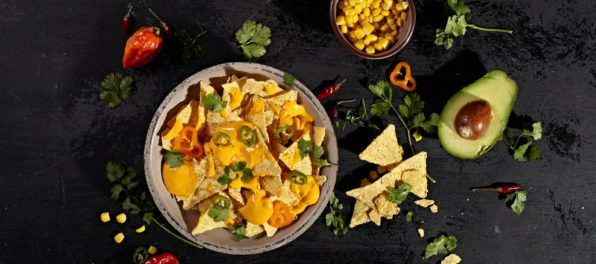 Nachos with Violife Slices with Cheddar Flavour