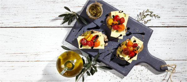 Bruschettas with Pesto and Violife Organic