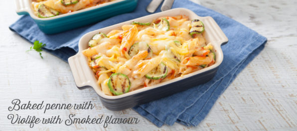 Baked penne with Violife smoked