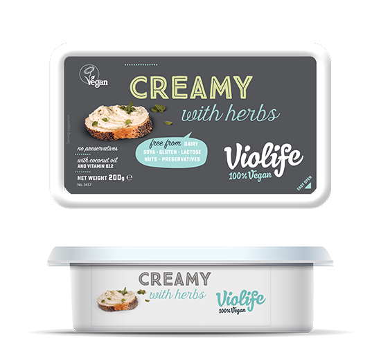 Creamy with herbs