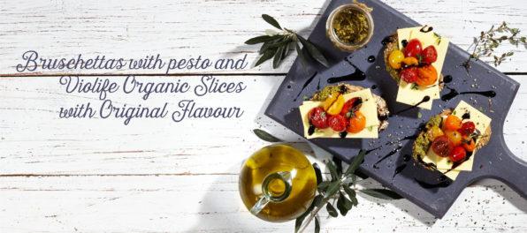 bruschettaswith pesto and violife organic original