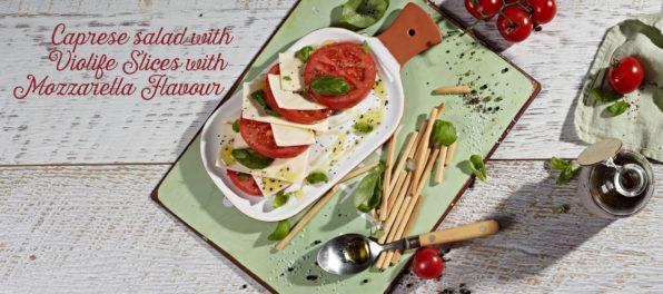 caprese salad with violife mozzarella