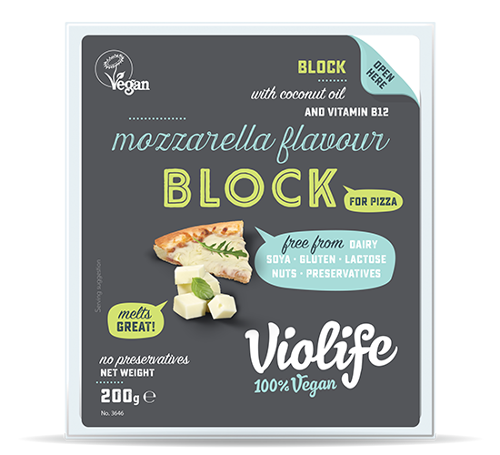 mozzarella flavour block for pizza