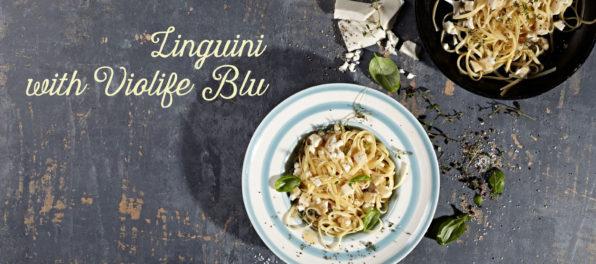 linguini with Violife blu