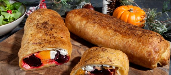 Christmas vegan wellington rolls with Violife blu