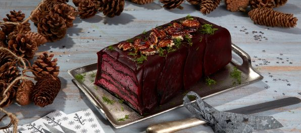 Beetroot and Violife Greek White Terrine