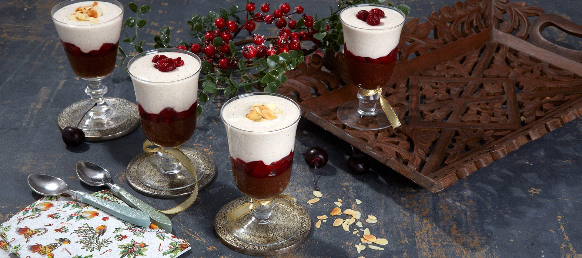 Christmas Vegan Triffles with Violife Creamy Original