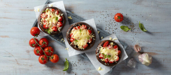 Violife Stuffed Portobello mushrooms