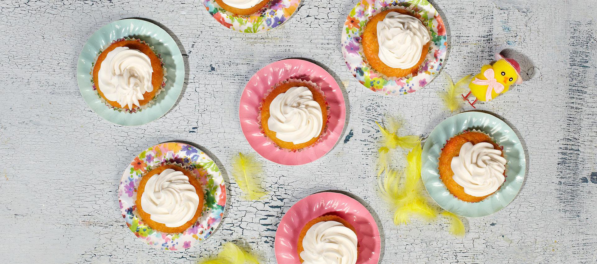 Vegan Pumpkin Muffins with Violife Cream Cheese Original
